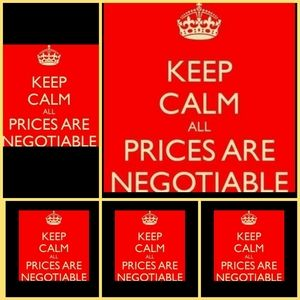 Don't be afraid to negotiate.....